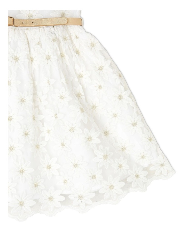 Harriet Woven Organza Dress with Belt (3-8 Years) image 3