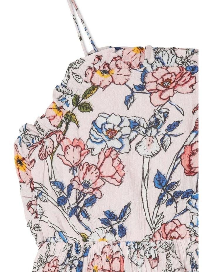 High-Neck Frill Bodice Yoryu Dress - Floral/Pink image 2