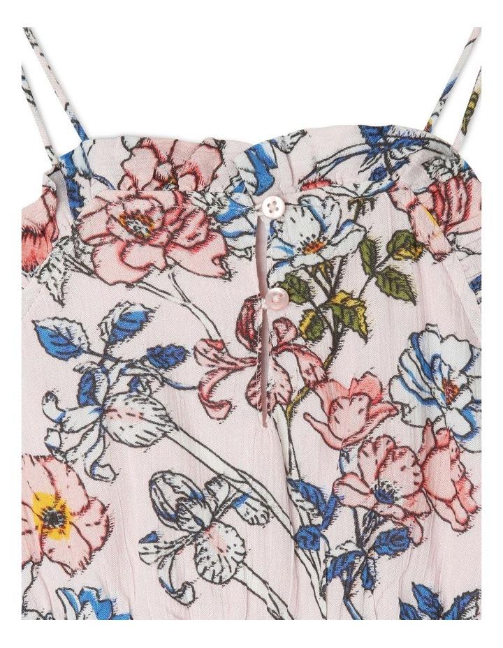 High-Neck Frill Bodice Yoryu Dress - Floral/Pink image 3