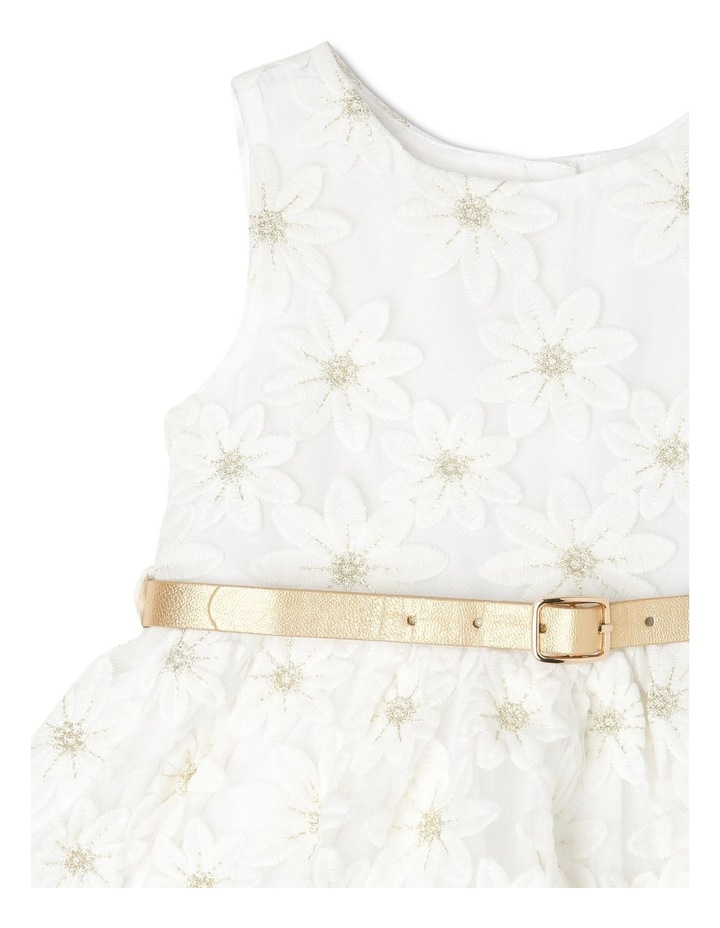 Harriet Woven Organza Dress with Belt (0-2 Years) image 2