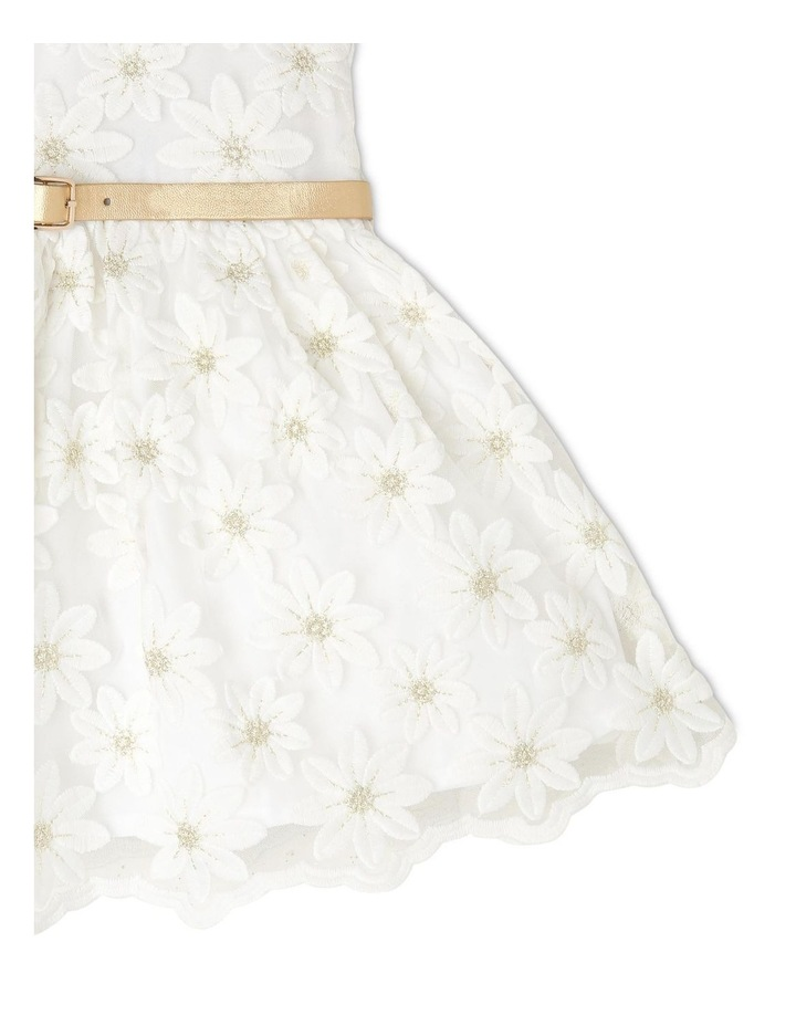 Harriet Woven Organza Dress with Belt (0-2 Years) image 3