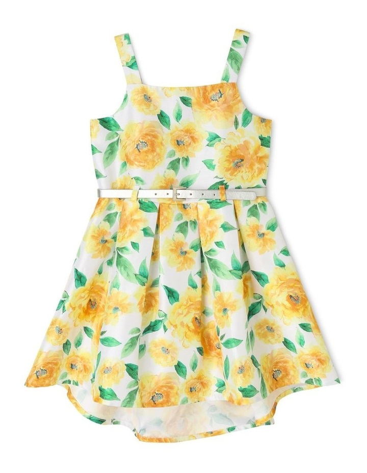 Hazel Woven Party Dress With Belt (3-8 Years) image 1