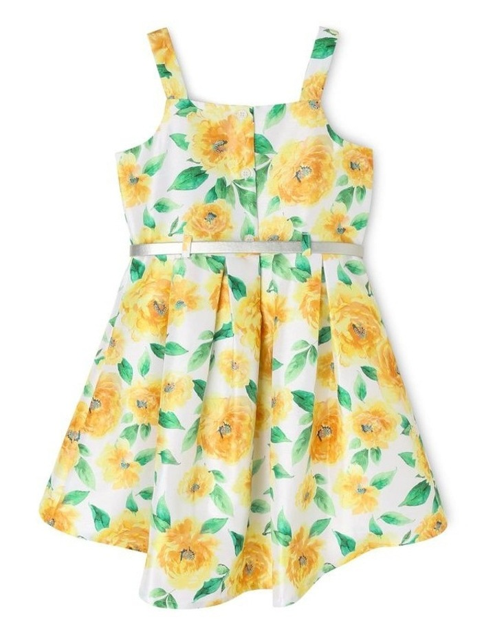 Hazel Woven Party Dress With Belt (3-8 Years) image 2