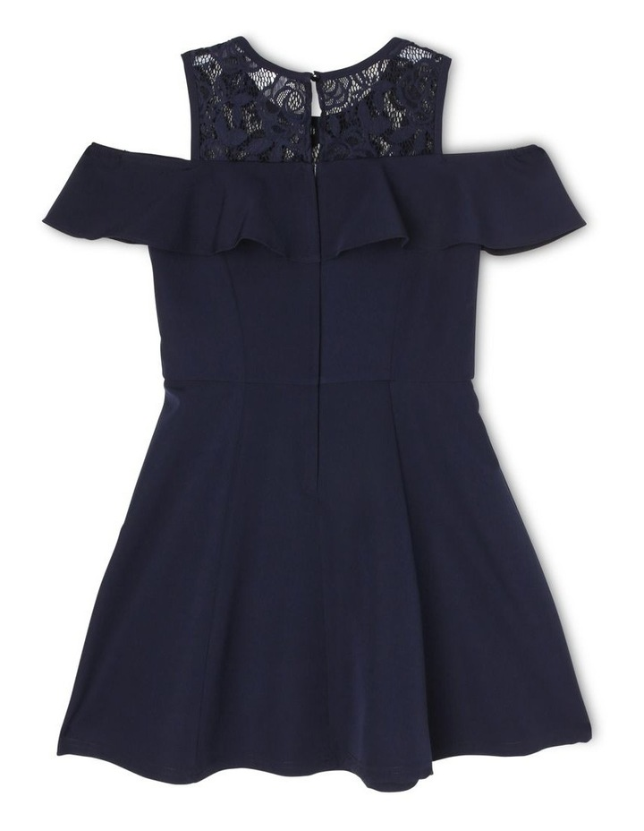 Clover Cold Shoulder Party Dress (3-16 Years) image 2