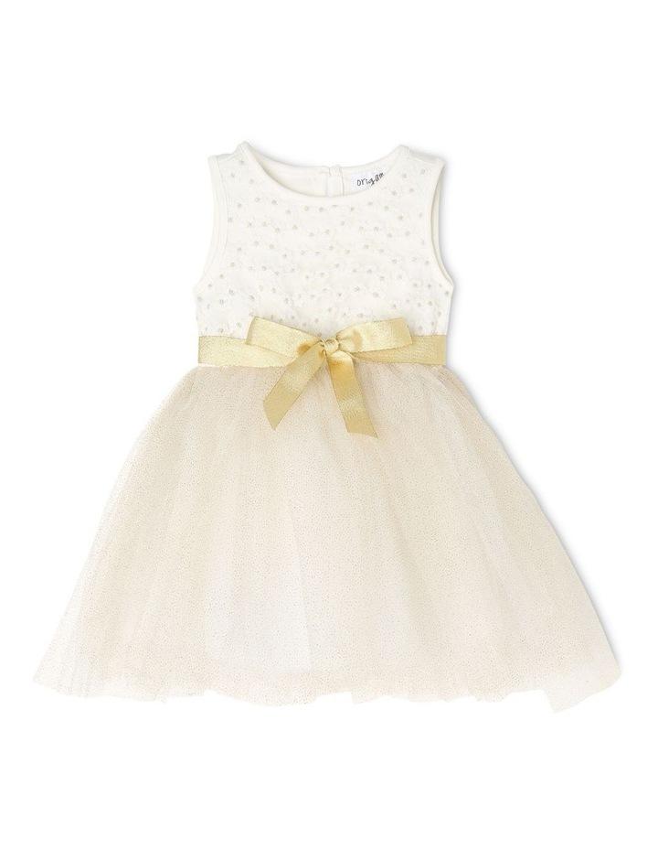 Daisy Sleeveless Tutu Dress - Ivory & Gold image 1
