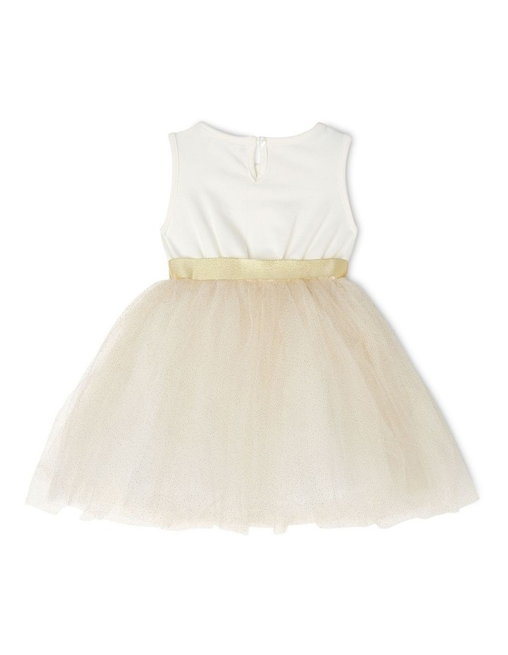 Daisy Sleeveless Tutu Dress - Ivory & Gold image 2