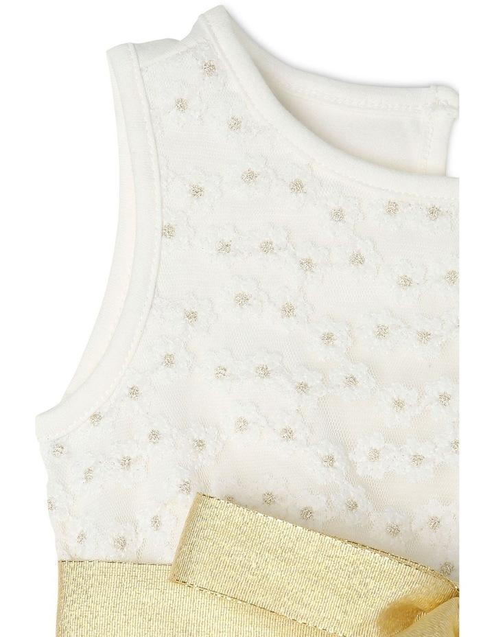 Daisy Sleeveless Tutu Dress - Ivory & Gold image 3