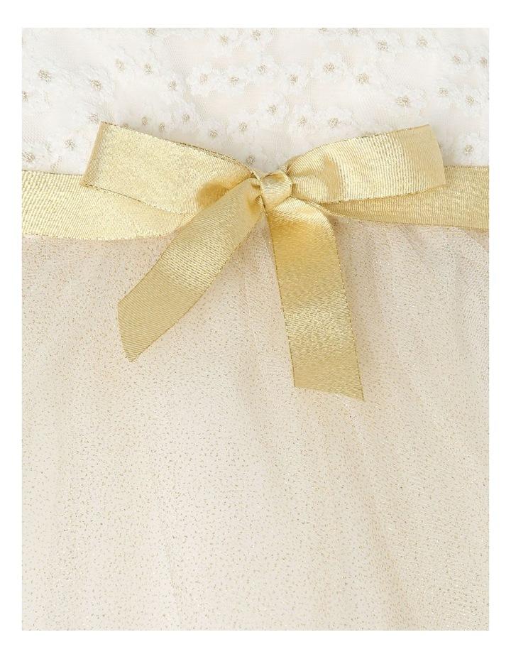 Daisy Sleeveless Tutu Dress - Ivory & Gold image 4