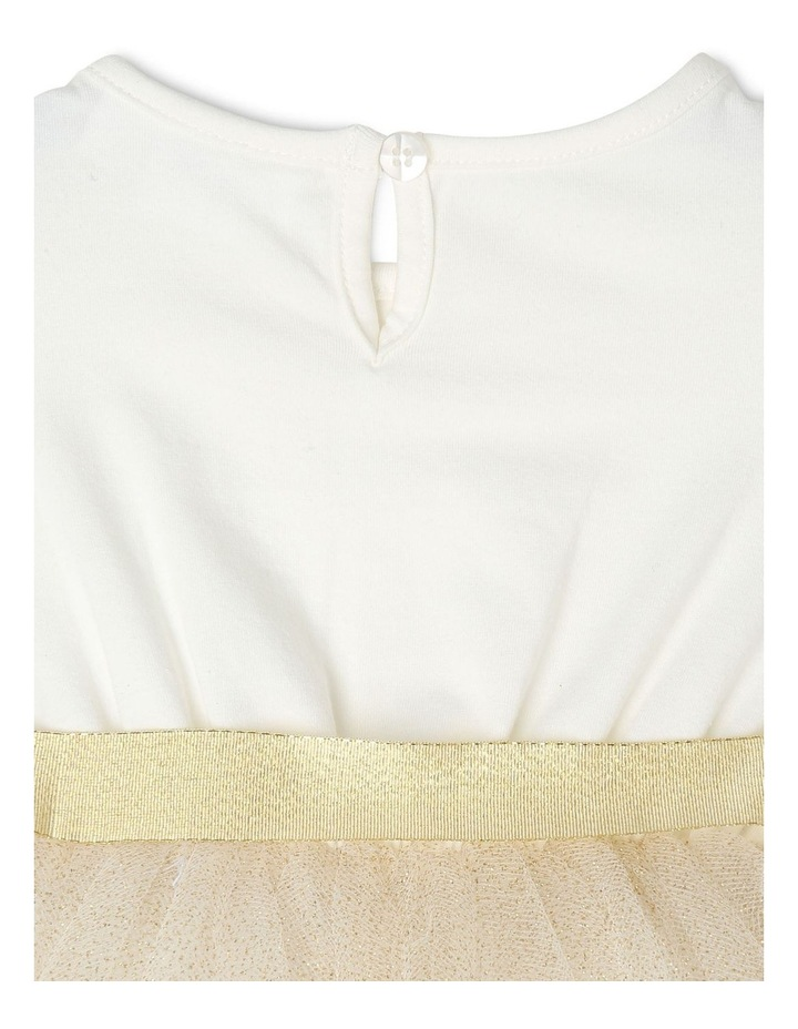 Daisy Sleeveless Tutu Dress - Ivory & Gold image 5