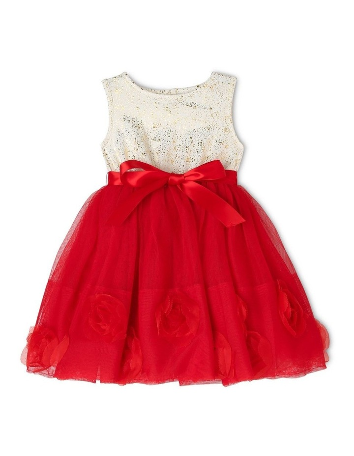 Bella Sleeveless Tutu Dress (0-2 Years) - Red Flower image 1