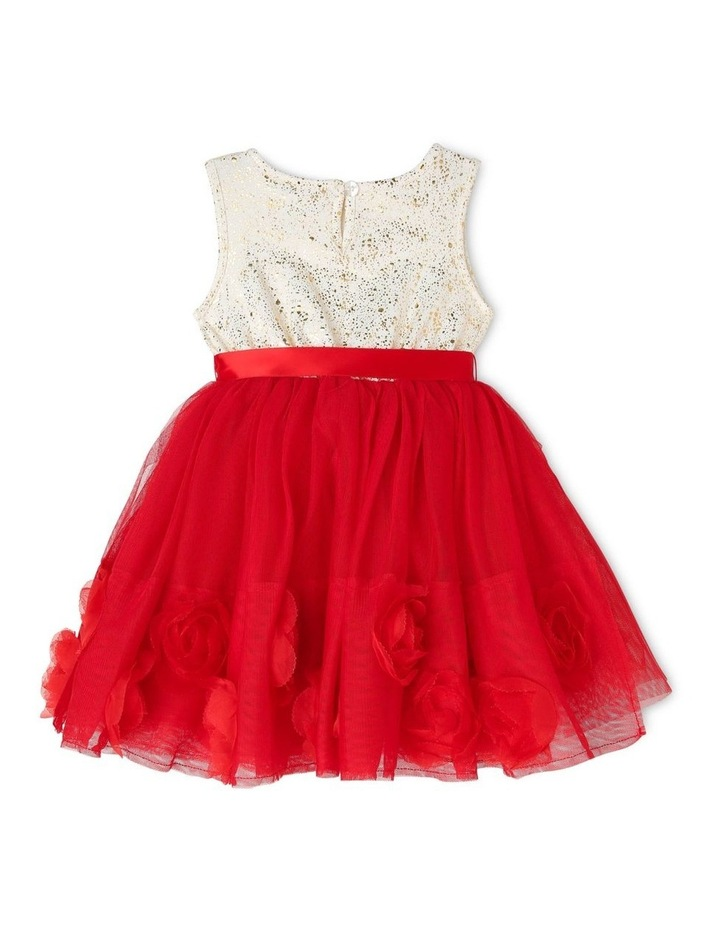 Bella Sleeveless Tutu Dress (0-2 Years) - Red Flower image 2