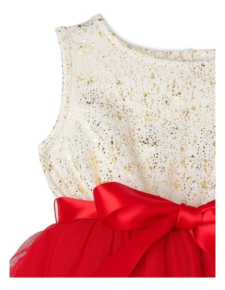 Bella Sleeveless Tutu Dress (0-2 Years) - Red Flower image 3
