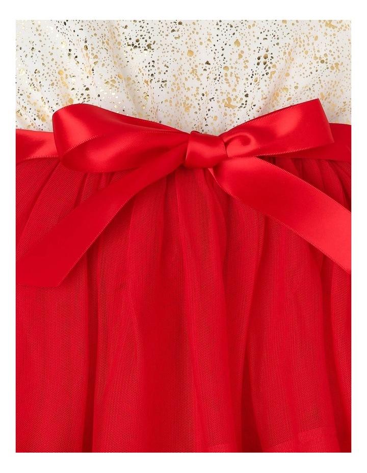 Bella Sleeveless Tutu Dress (0-2 Years) - Red Flower image 4