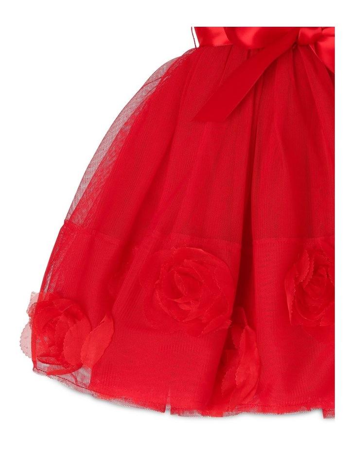 Bella Sleeveless Tutu Dress (0-2 Years) - Red Flower image 5