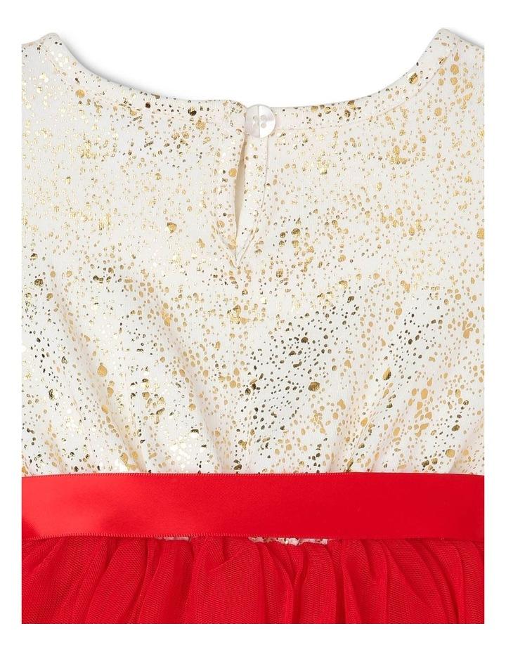 Bella Sleeveless Tutu Dress (0-2 Years) - Red Flower image 6