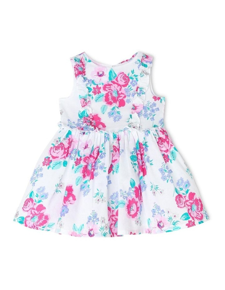 Chantelle Woven Frill Dress - Pink & Lilac Floral (0-2 Years) image 1