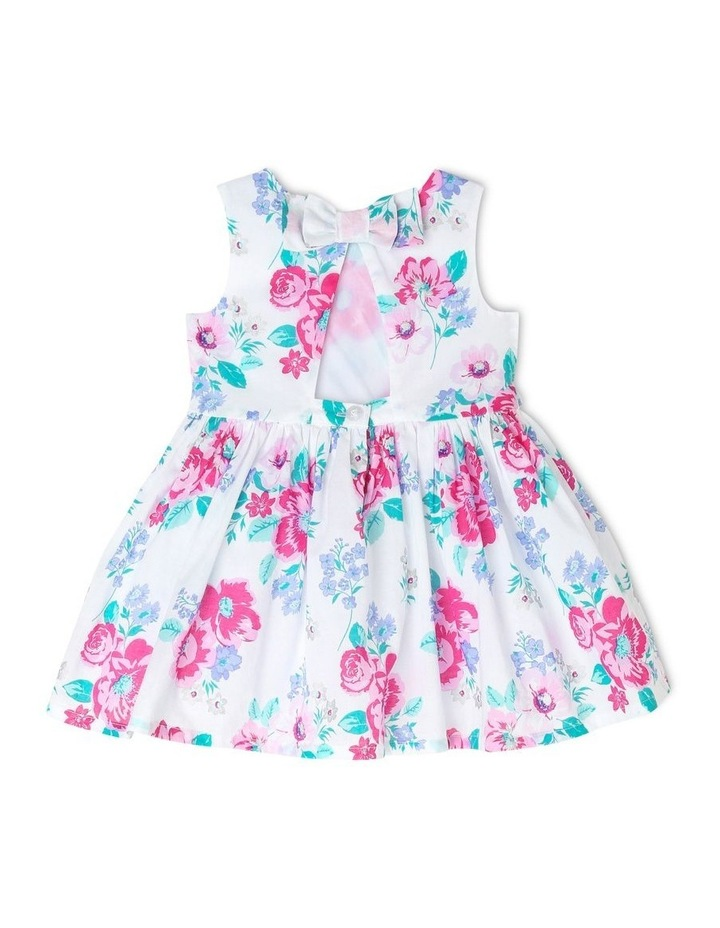 Chantelle Woven Frill Dress - Pink & Lilac Floral (0-2 Years) image 2