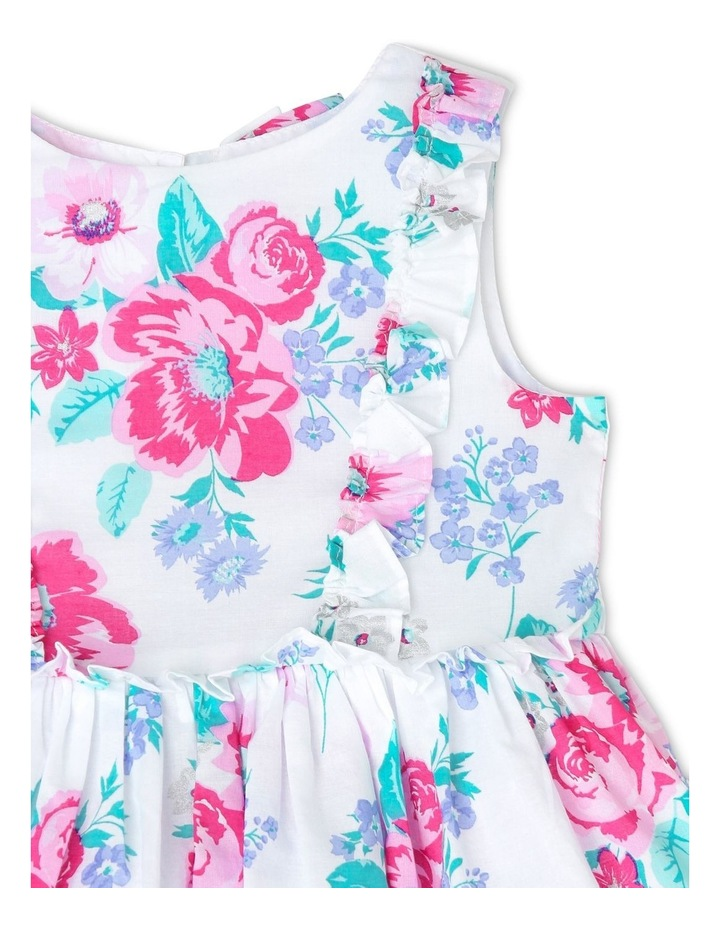 Chantelle Woven Frill Dress - Pink & Lilac Floral (0-2 Years) image 3