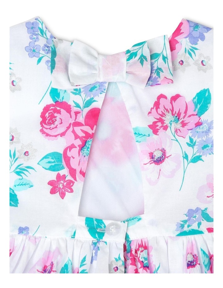 Chantelle Woven Frill Dress - Pink & Lilac Floral (0-2 Years) image 4