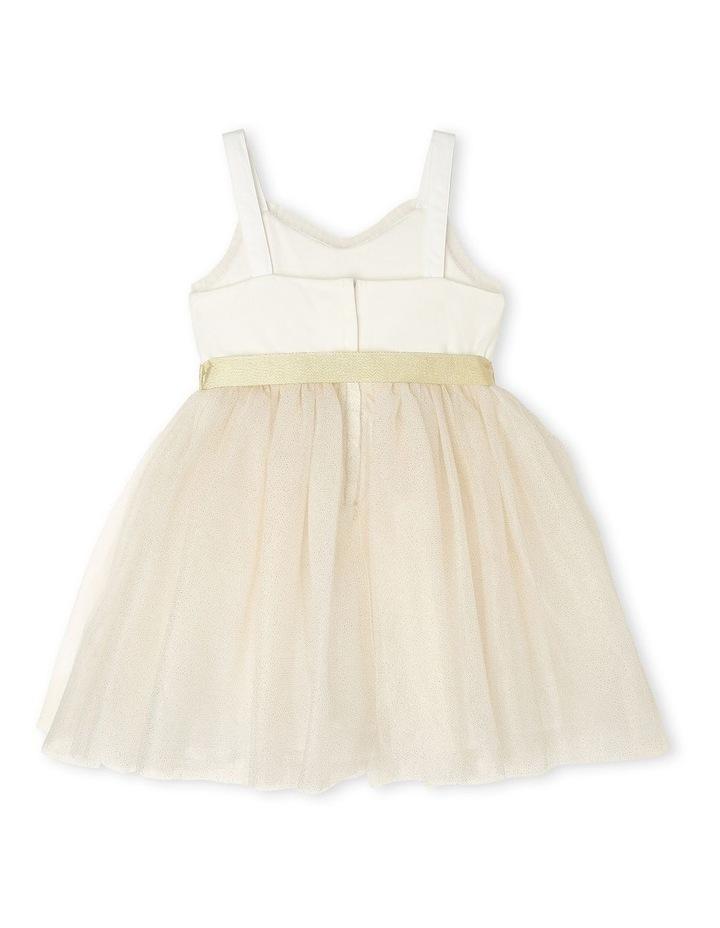 Daisy Sleeveless Sweetheart Bodice Tutu Dress - Ivory & Gold image 2