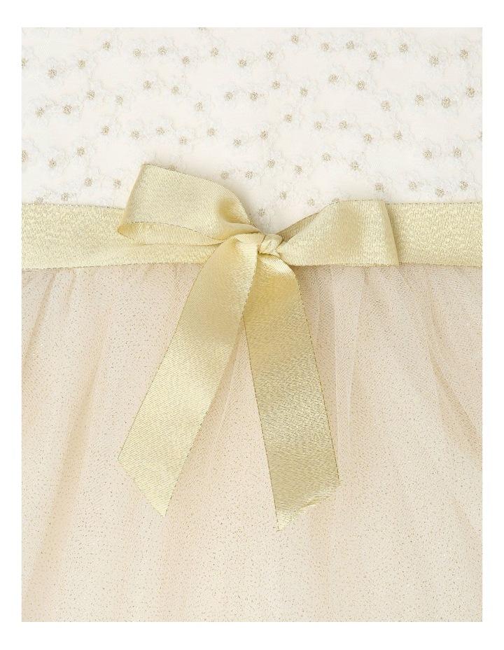 Daisy Sleeveless Sweetheart Bodice Tutu Dress - Ivory & Gold image 4