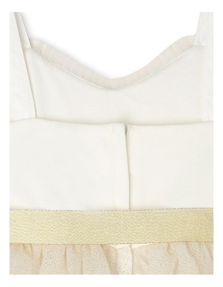 Daisy Sleeveless Sweetheart Bodice Tutu Dress - Ivory & Gold image 5
