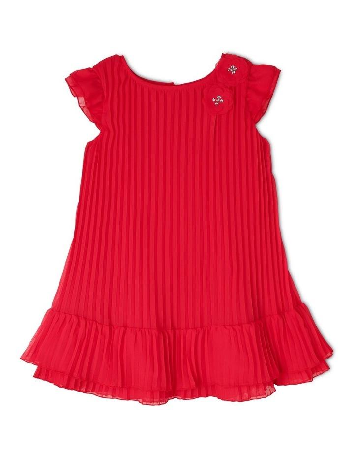 'Flora' Flutter Sleeve Shift Dress (3-8 Years) image 1