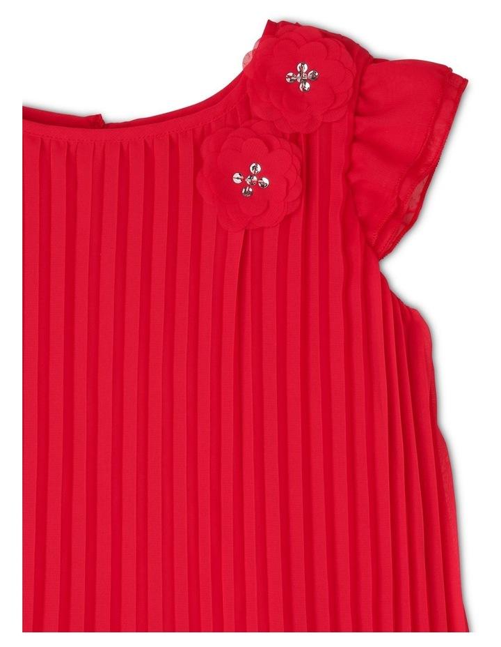 'Flora' Flutter Sleeve Shift Dress (3-8 Years) image 3