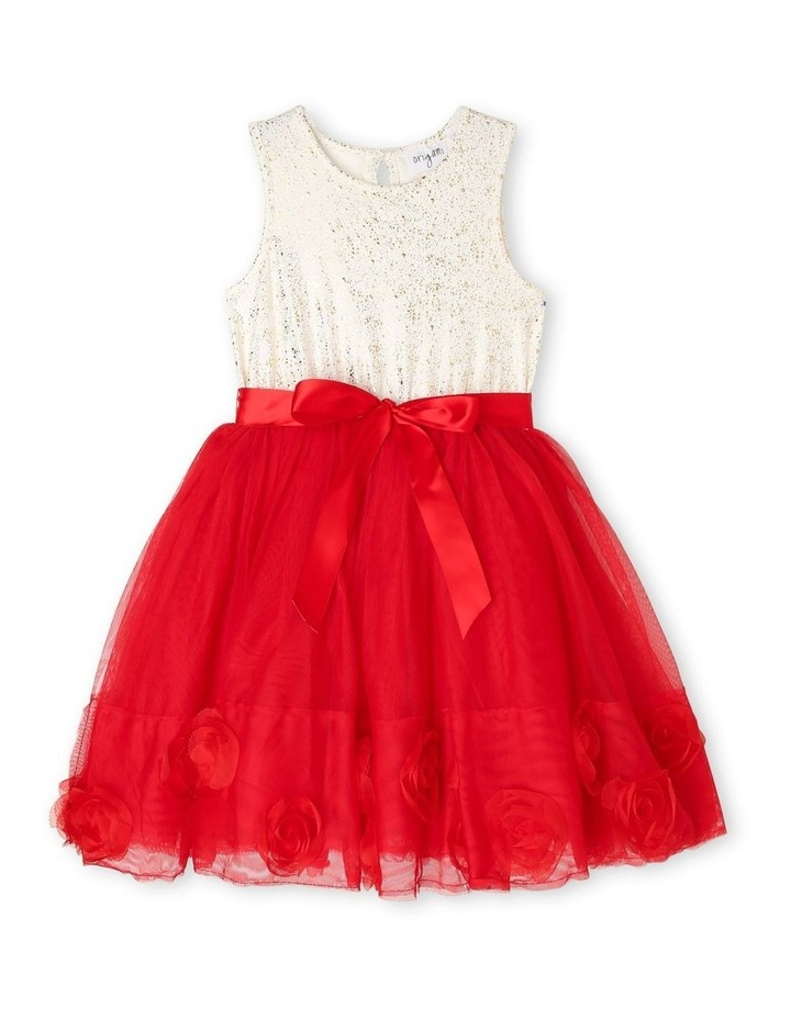 Bella Sleeveless Tutu Dress (3-8 Years) - Red Flower image 1