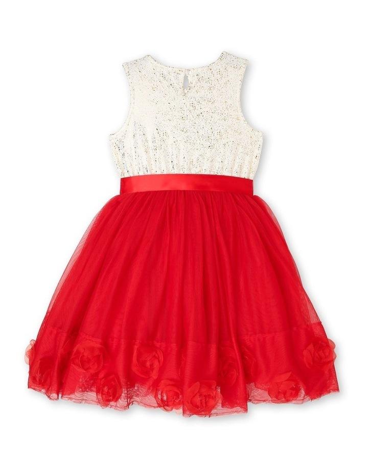 Bella Sleeveless Tutu Dress (3-8 Years) - Red Flower image 2