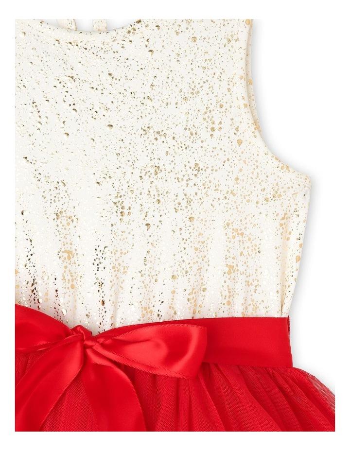 Bella Sleeveless Tutu Dress (3-8 Years) - Red Flower image 3