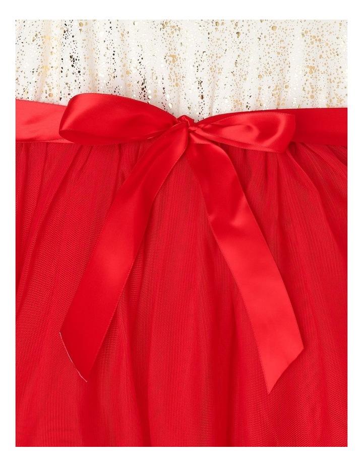Bella Sleeveless Tutu Dress (3-8 Years) - Red Flower image 4