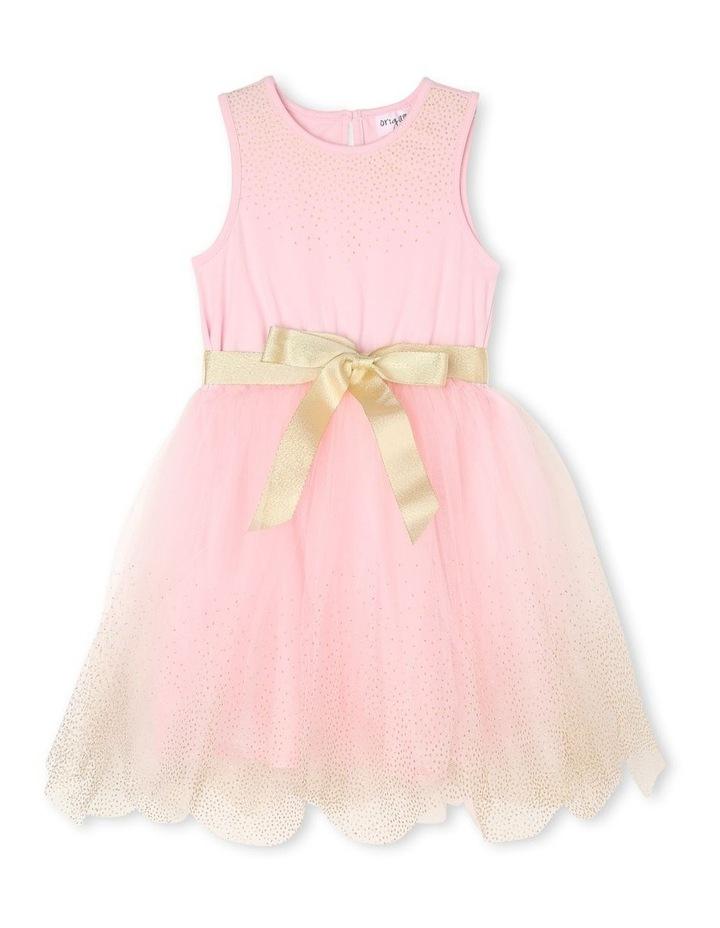 Josie Sleeveless Tutu Dress - Pink & Gold image 1
