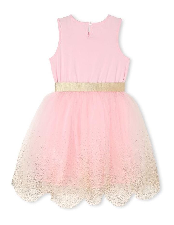 Josie Sleeveless Tutu Dress - Pink & Gold image 2