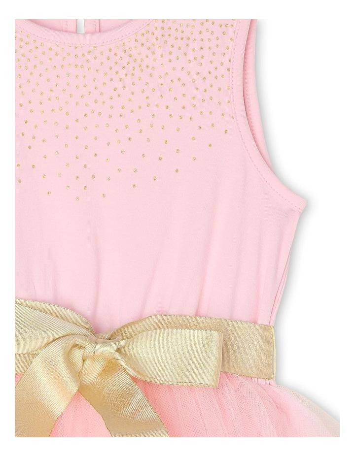 Josie Sleeveless Tutu Dress - Pink & Gold image 3