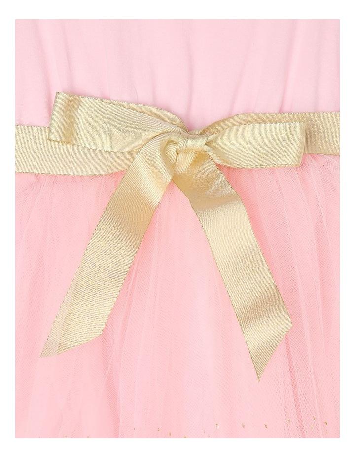 Josie Sleeveless Tutu Dress - Pink & Gold image 4