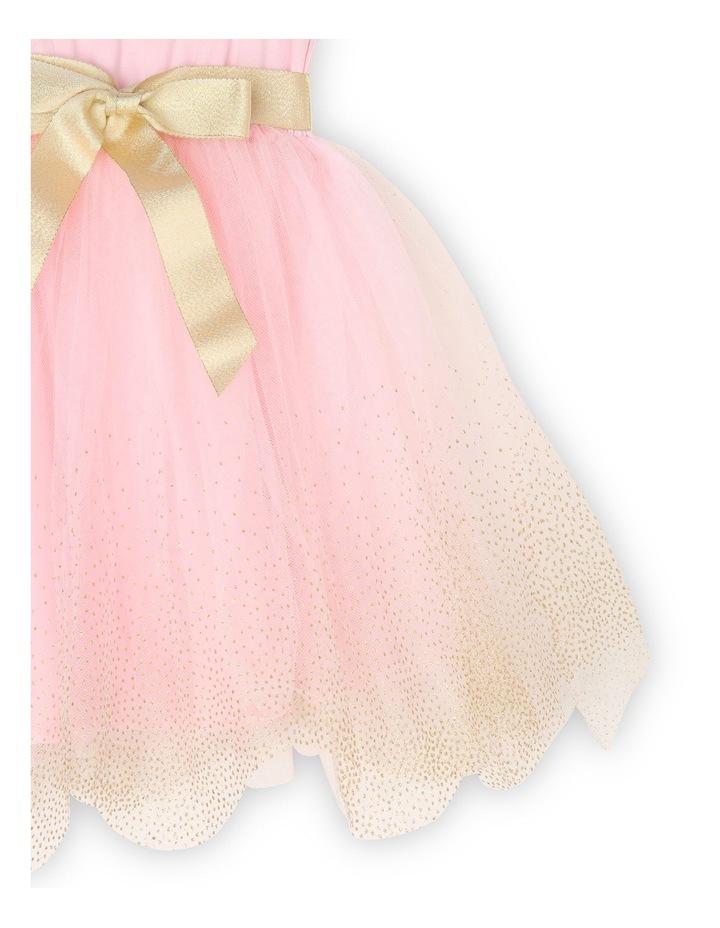 Josie Sleeveless Tutu Dress - Pink & Gold image 5