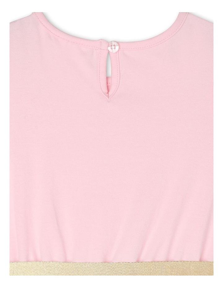 Josie Sleeveless Tutu Dress - Pink & Gold image 6