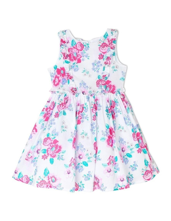 Chantelle Woven Frill Dress - Pink & Lilac Floral (3-8 Years) image 1