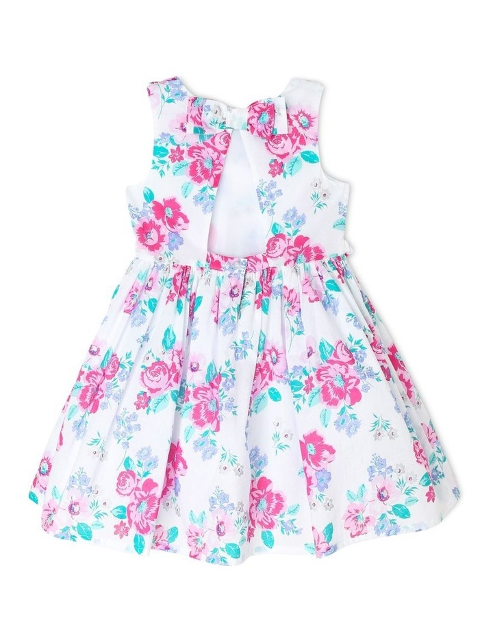 Chantelle Woven Frill Dress - Pink & Lilac Floral (3-8 Years) image 2