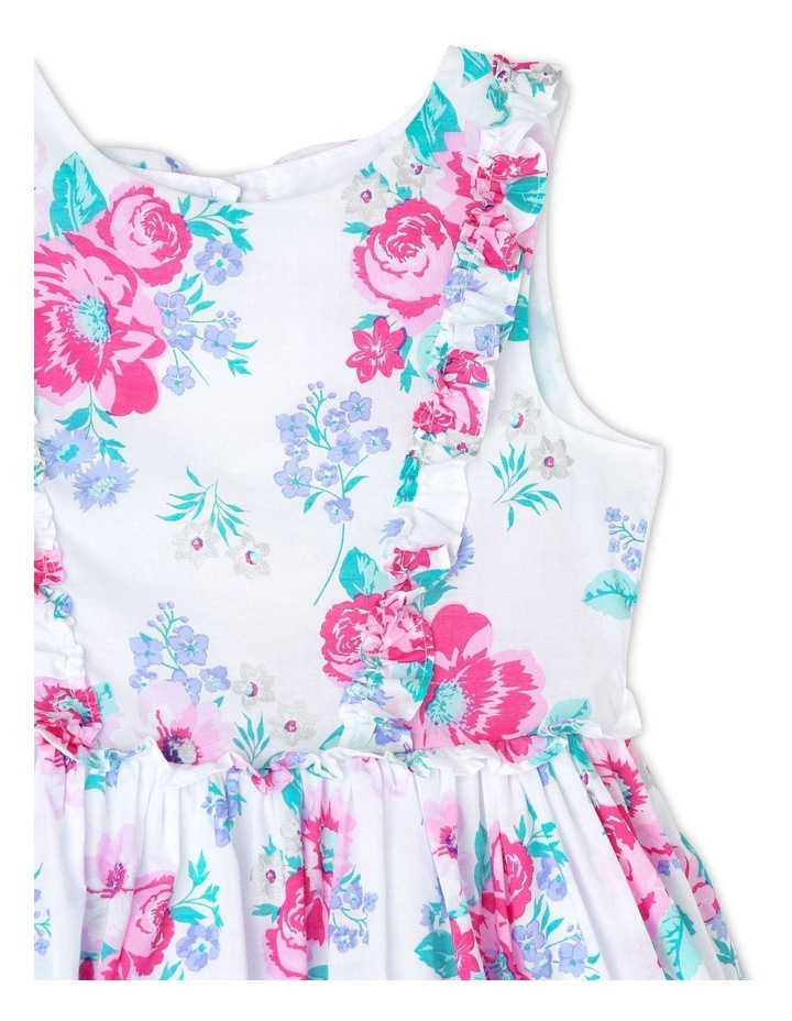 Chantelle Woven Frill Dress - Pink & Lilac Floral (3-8 Years) image 3