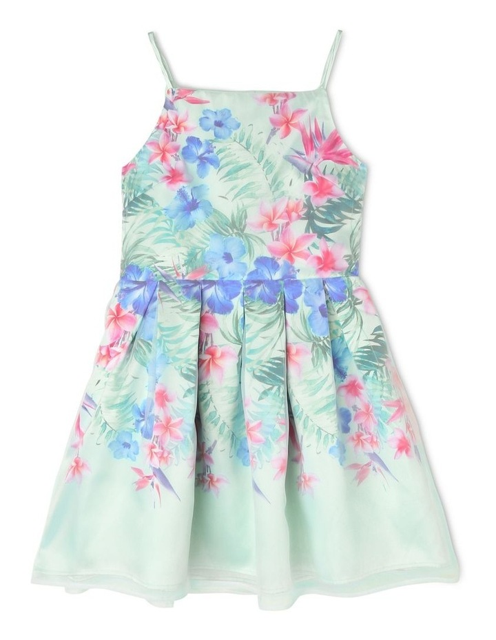 Gigi Sleeveless Organza Party Dress - Tropical Floral image 1