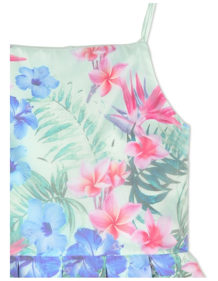 Gigi Sleeveless Organza Party Dress - Tropical Floral image 2
