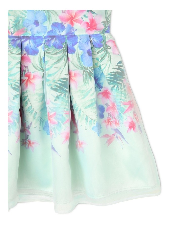 Gigi Sleeveless Organza Party Dress - Tropical Floral image 3