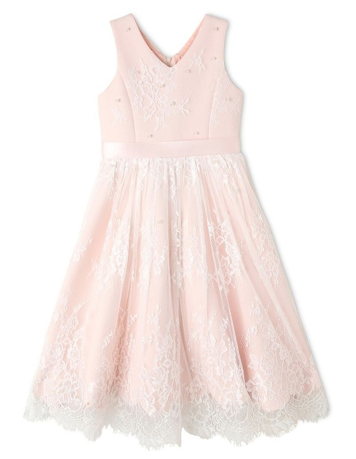 Charlie Woven Scalloped Lace Dress (3-8 Years) image 1