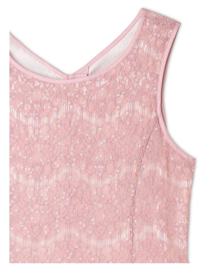 Rose Sequin Lace Shift Dress image 2