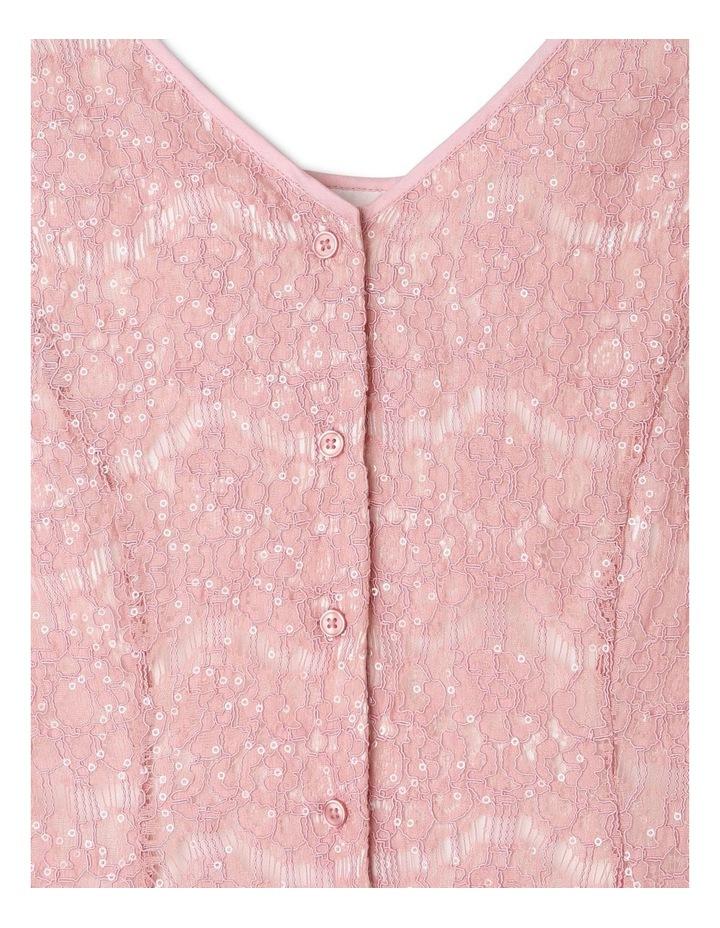 Rose Sequin Lace Shift Dress image 4