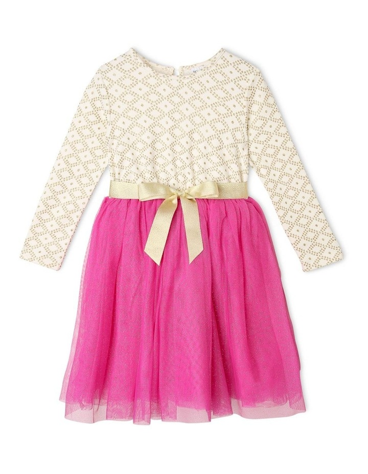 Kinsley Long-Sleeve Jacquard Tutu Dress image 1