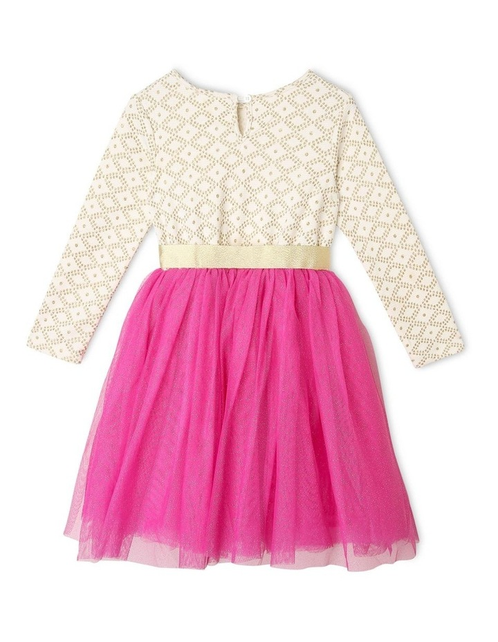 Kinsley Long-Sleeve Jacquard Tutu Dress image 3
