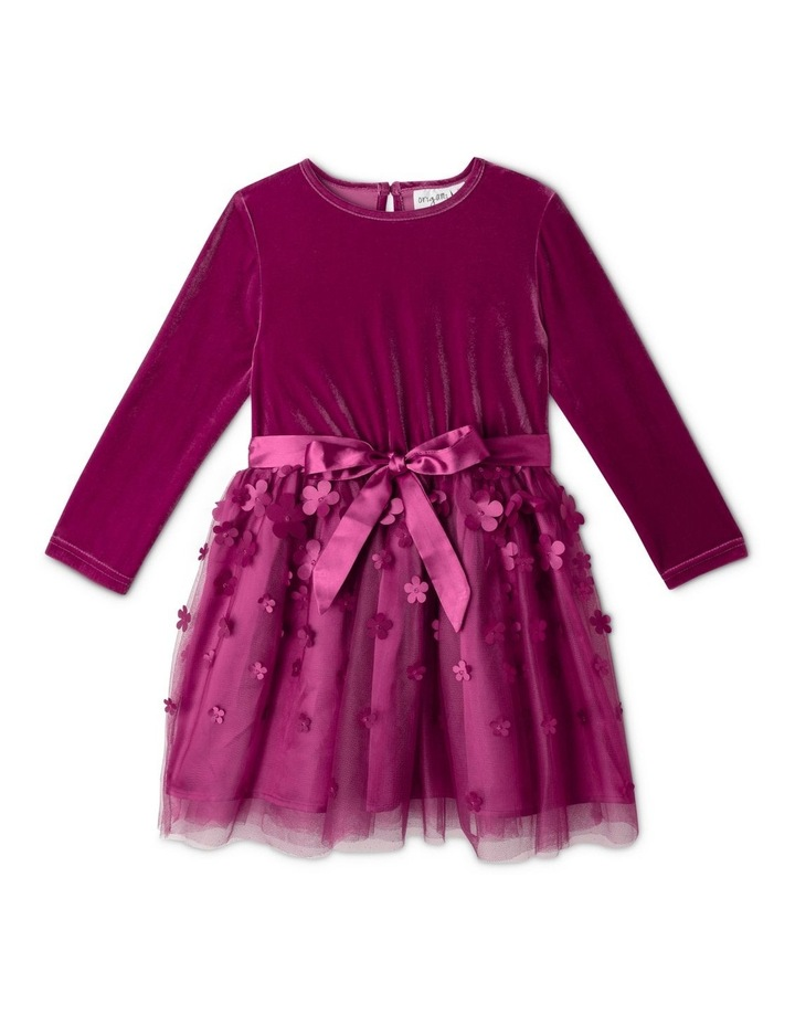 Hazel Velour Dress (1-8 Years) image 1